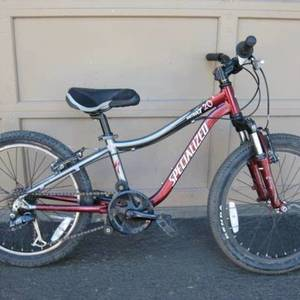 Specialized Hotrock 20 Boys Red and Silver or Gray