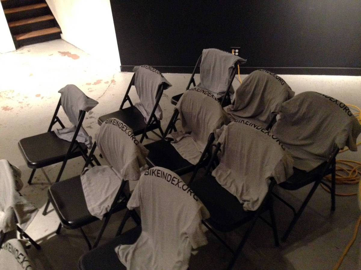 New Bike Index shirts drying