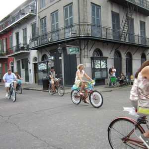 Small new orleans trip   bicycles on bourbon street
