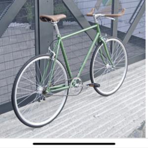 2019 Havkney Cycles Single Speed Roadbike Metallic Green Roadbike
