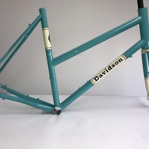 2018 Davidson Titanium Frame, Steel Fork. Teal
