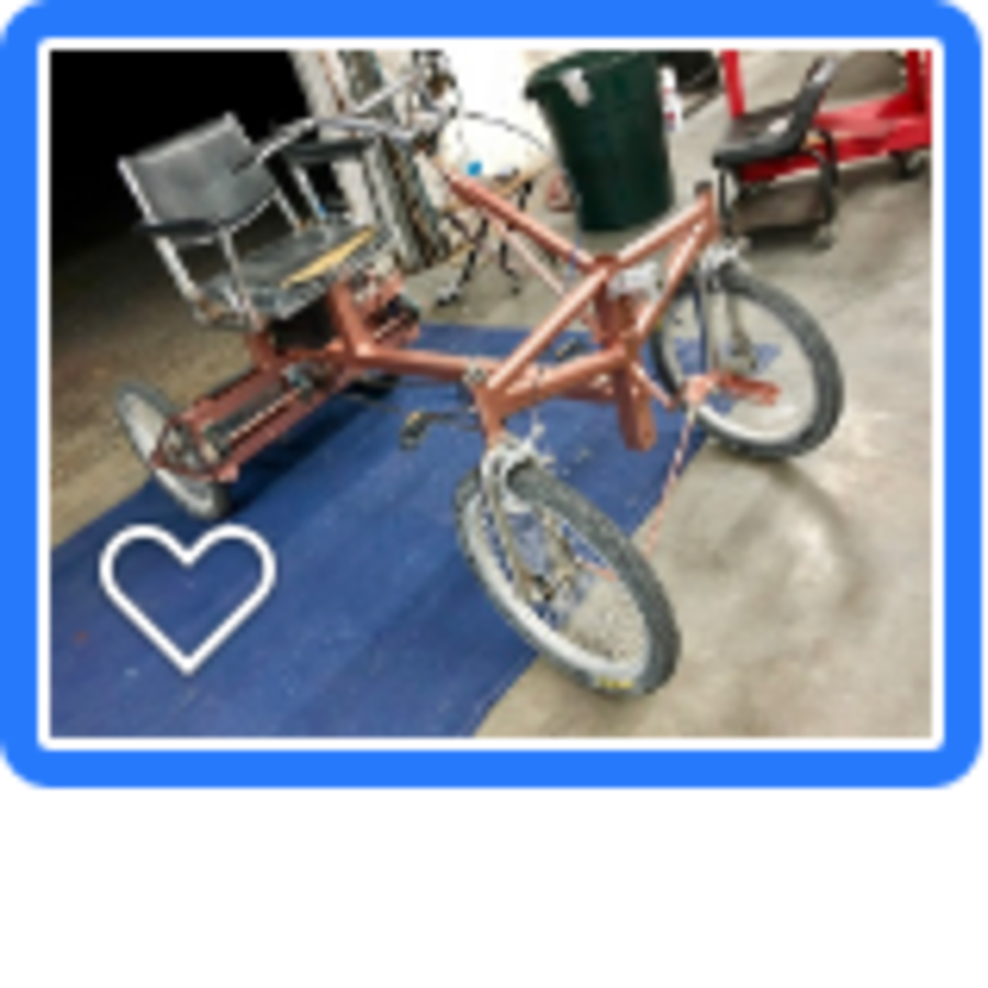 Stolen Custom 4-wheel electric bike Steel Frame Battery