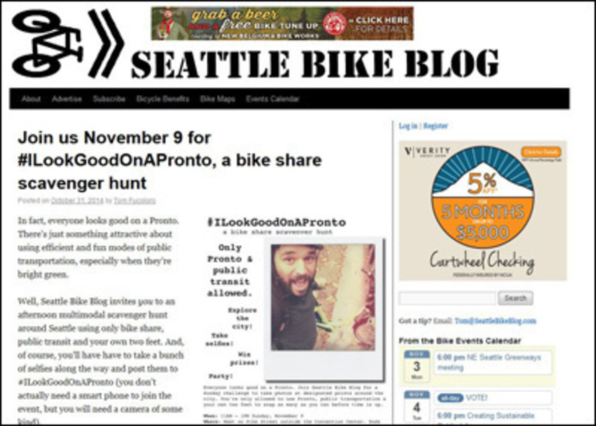 Seattle Bike Blog screenshot