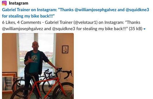 trainer instagram post
