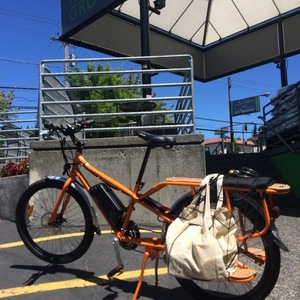 2016 Rad Power Bikes Radwagon cargo bike (rear storage) Orange
