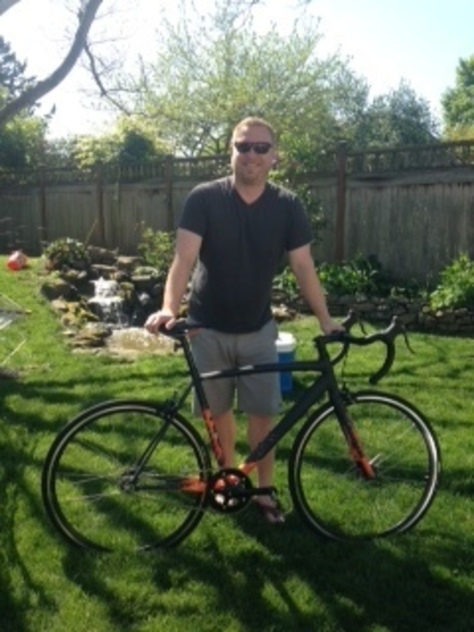 picture of the recovered Specialized Langster