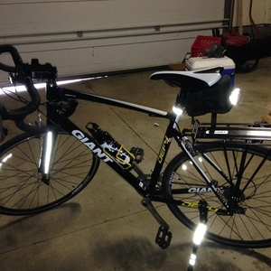 2011 Giant Defy 2 Black, White, and Yellow or Gold