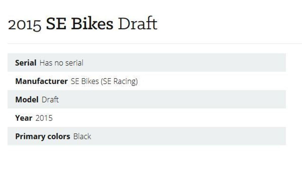 2015 SE Bikes Draft