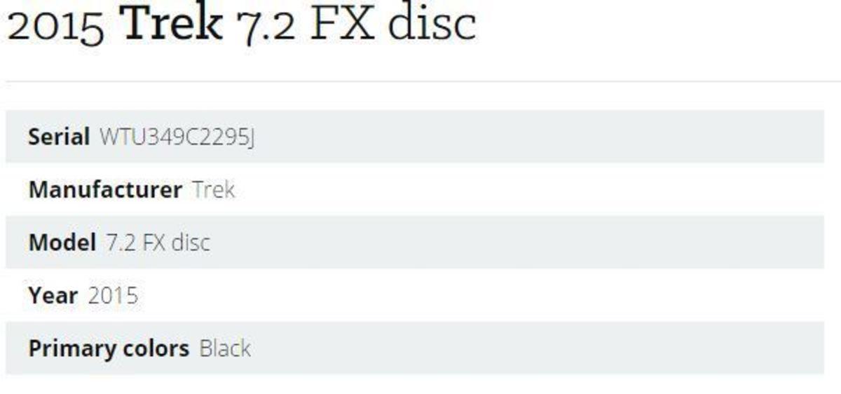 2015 Trek 7.2 FX disc