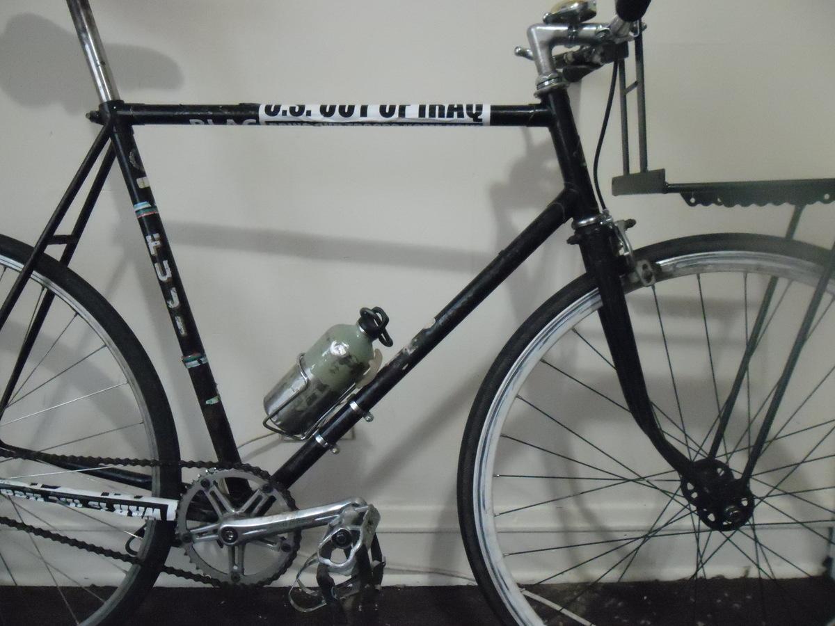 Stolen 1988 Fuji Black Fuji Sports Bike Conversion w/ front rack