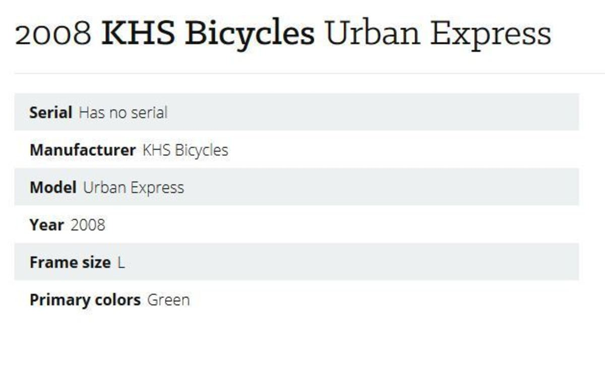 2008 KHS Bicycles Urban Express