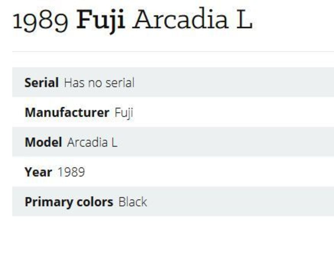 1989 Fuji Arcadia L