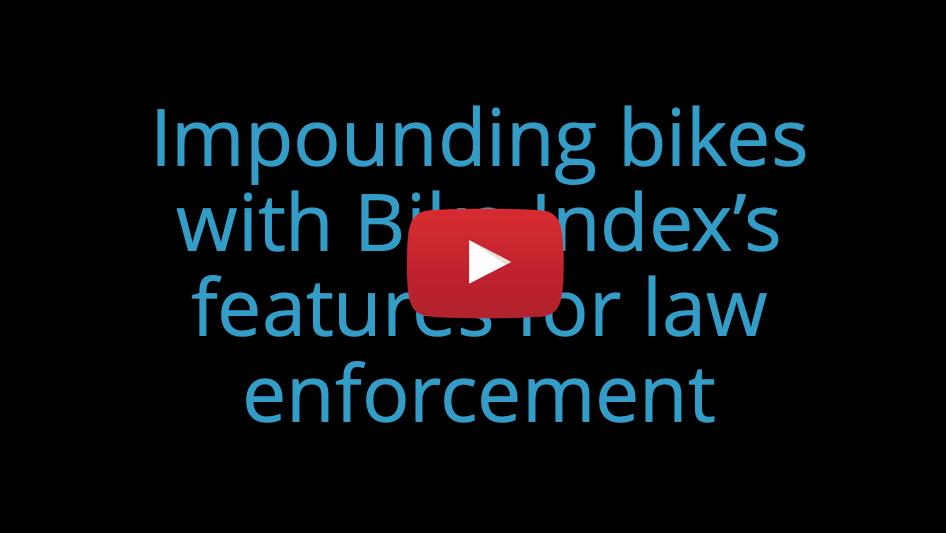 law enforcement tutorial video
