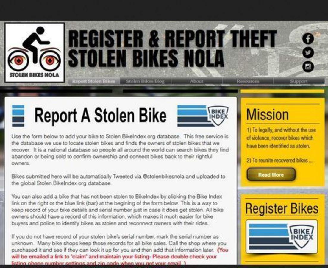 Bike Index welcomes our newest partner - Stolen Bikes NOLA!