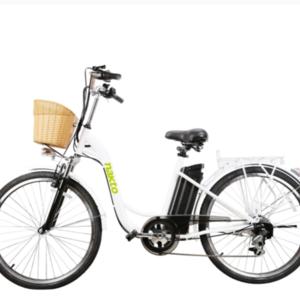 2020 NAKTO Electric Bike Step through ELECTRIC BIKE White, White, and Green