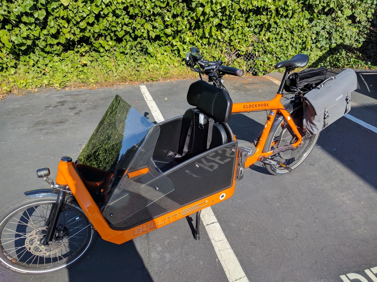 Cargo bike front storage photo
