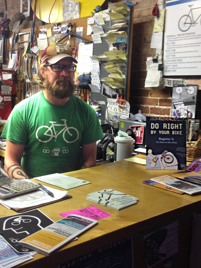 Jeff, owner of Revolution Cycles in Madison