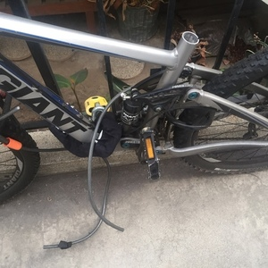2012 Giant Mountain bike front/rear suspension Silver or Gray